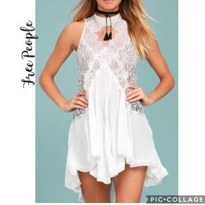 NWT Free People Tell Tale Heart Lace Tunic Dress